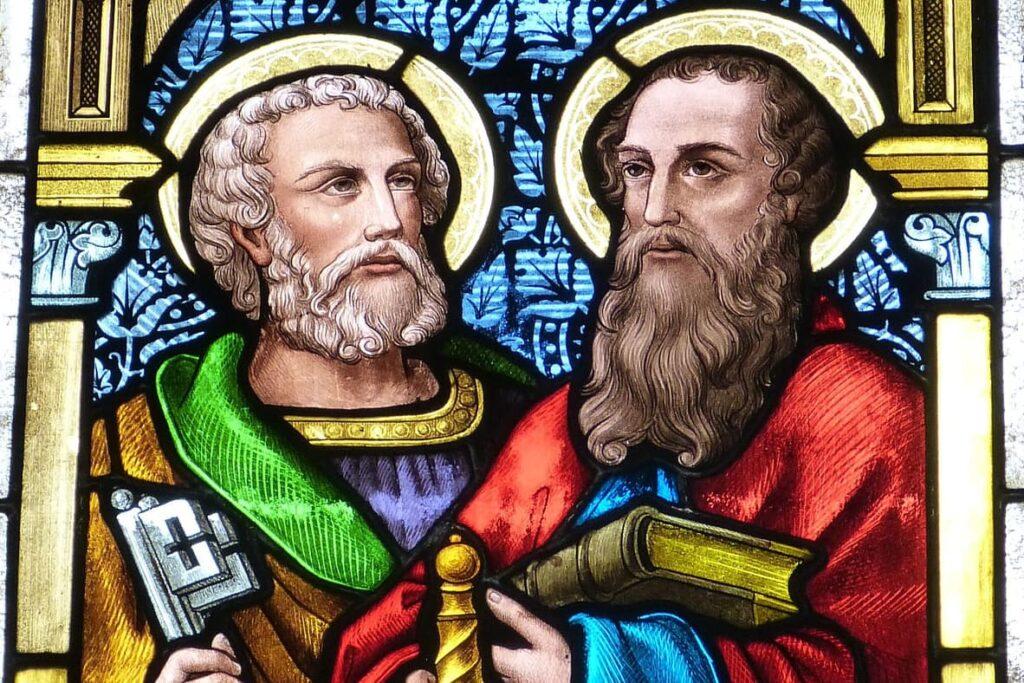 Peetrus ja Paulus vitraažaknal