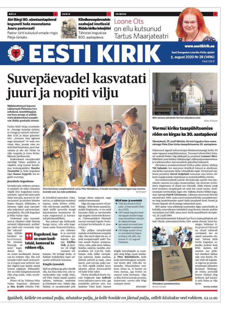 Ajaleht Eesti Kirik 05.08.2020