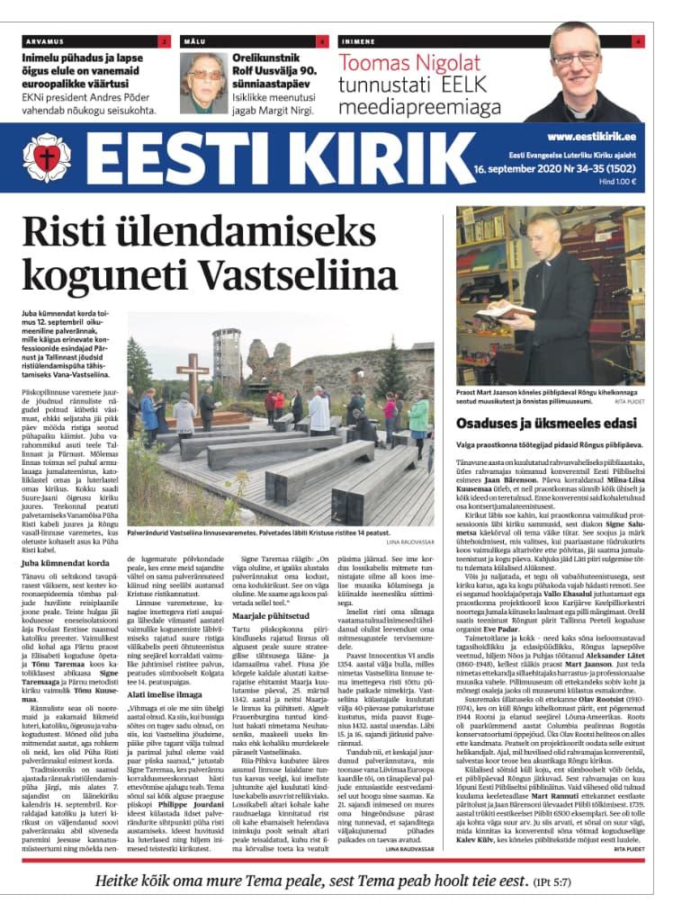 Eesti Kirik 16.09.2020