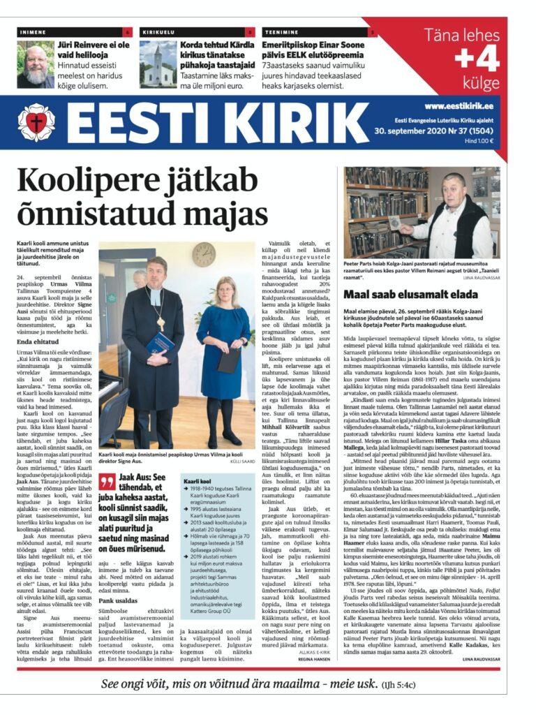 Eesti Kirik 30.09.2020