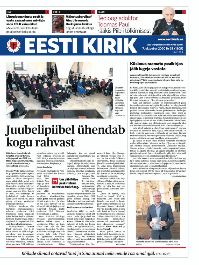 Eesti Kirik 7. oktoobril 2020