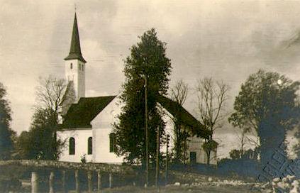 Ajalooline foto Põlva kirikust